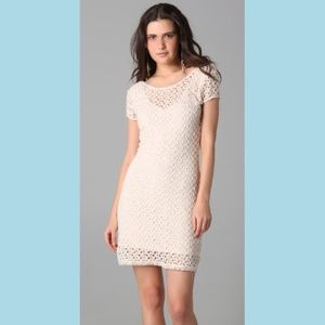 FREE PEOPLE Gypsy Lace Cap Sleeve Ivory Crochet Dr